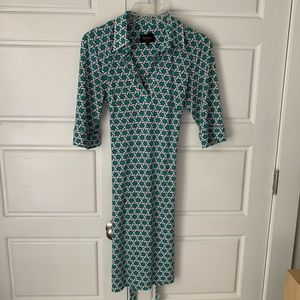 Chinese laundry green patterned dress